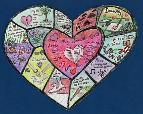 Home School NYC Make a Heart Map